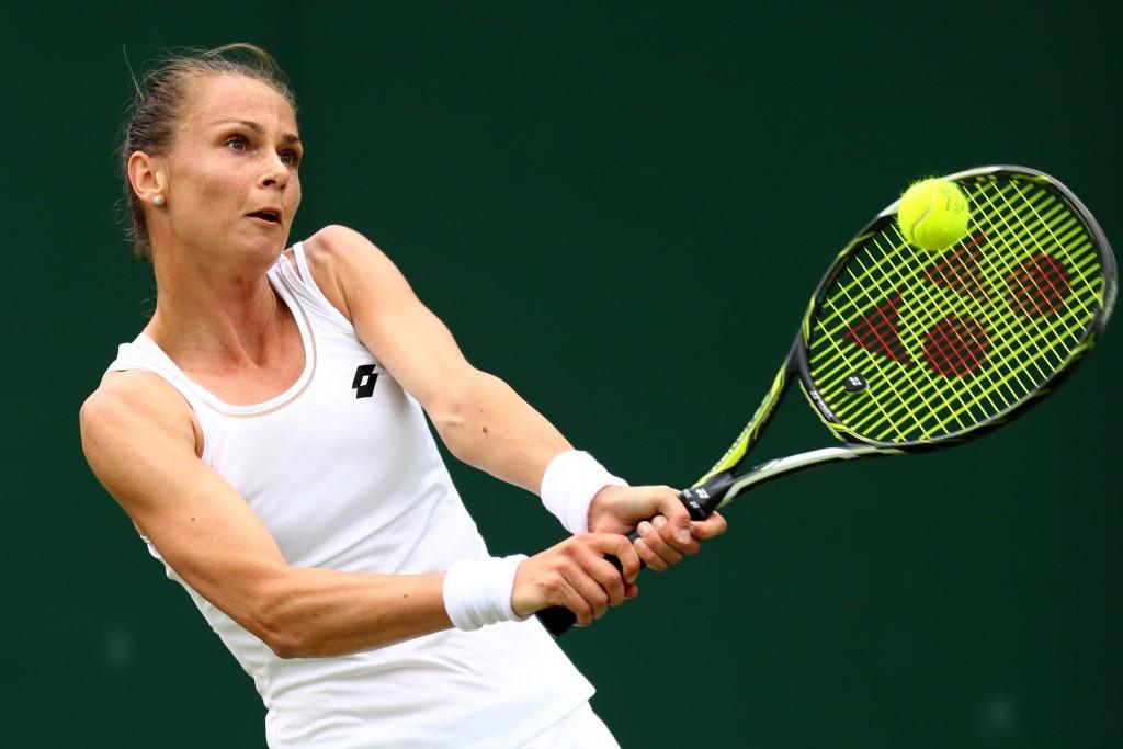 Magdalena Rybarikova, pictured, ousted third seed Karolina Pliskova today ©Getty Images
