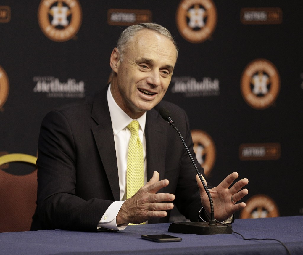 MLB Commissioner Rob Manfred is currently in talks with the WBSC over their Olympic interest ©Getty Images