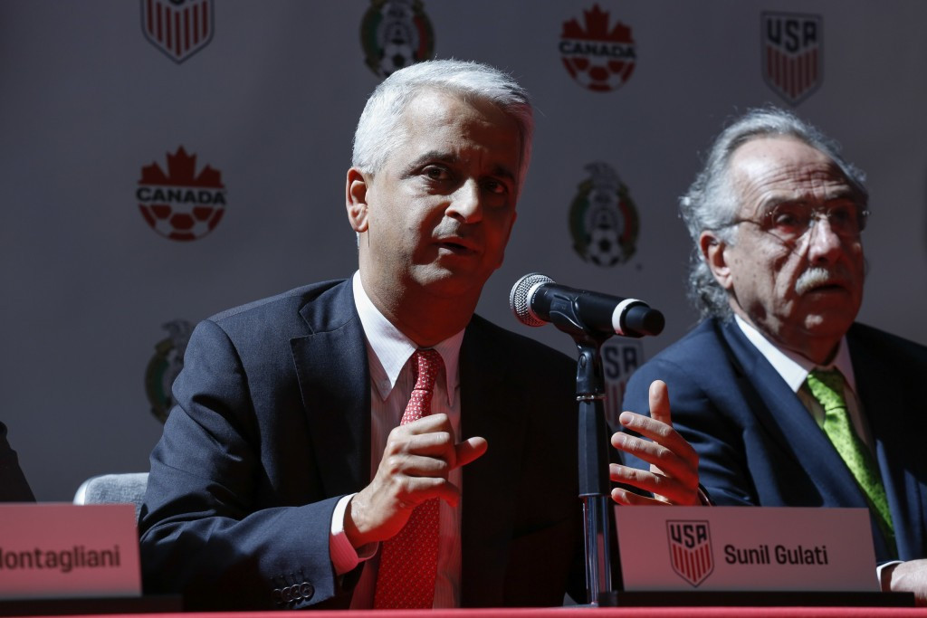 US Soccer head Sunil Gulati said Robert Kraft would be a great asset to their bid for the 2026 World Cup ©Getty Images