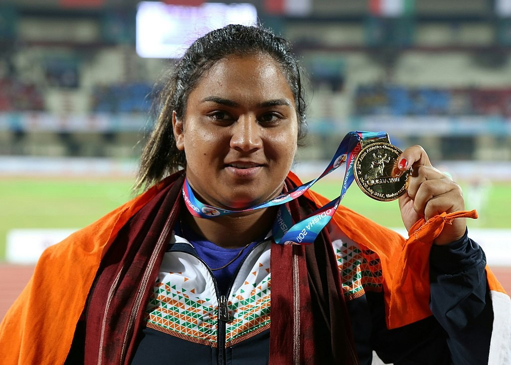 Indian shot putter Manpreet Kaur has failed a drugs test ©Getty Images