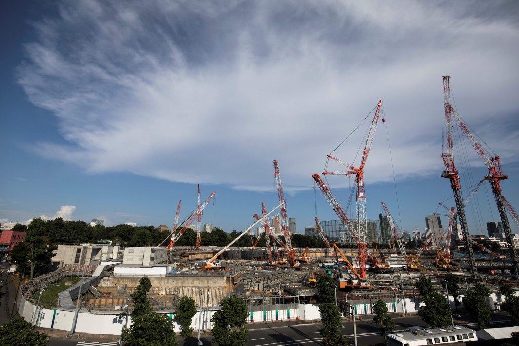 Construction work is currently ongoing at the Tokyo 2020 stadium ©Getty Images