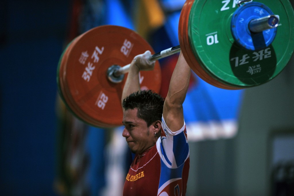 Carlos Berna won a hat-trick of gold medals in the men's 56 kilograms ©Getty Images