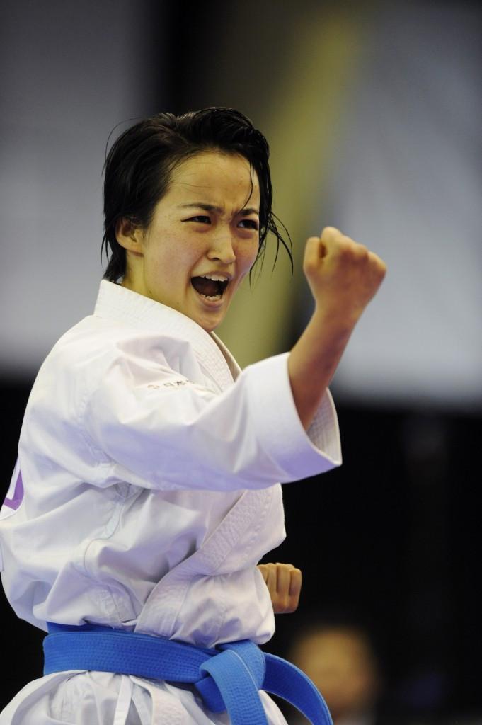 Kiyou Shimizu won the women's kata gold medal ©IWGA