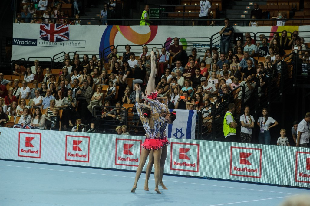 Acrobatic gymnastics brought today's competition to a close ©IWGA