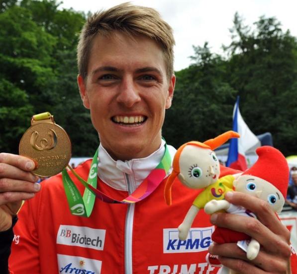 Switzerland's Kyburz wins fourth World Games orienteering title