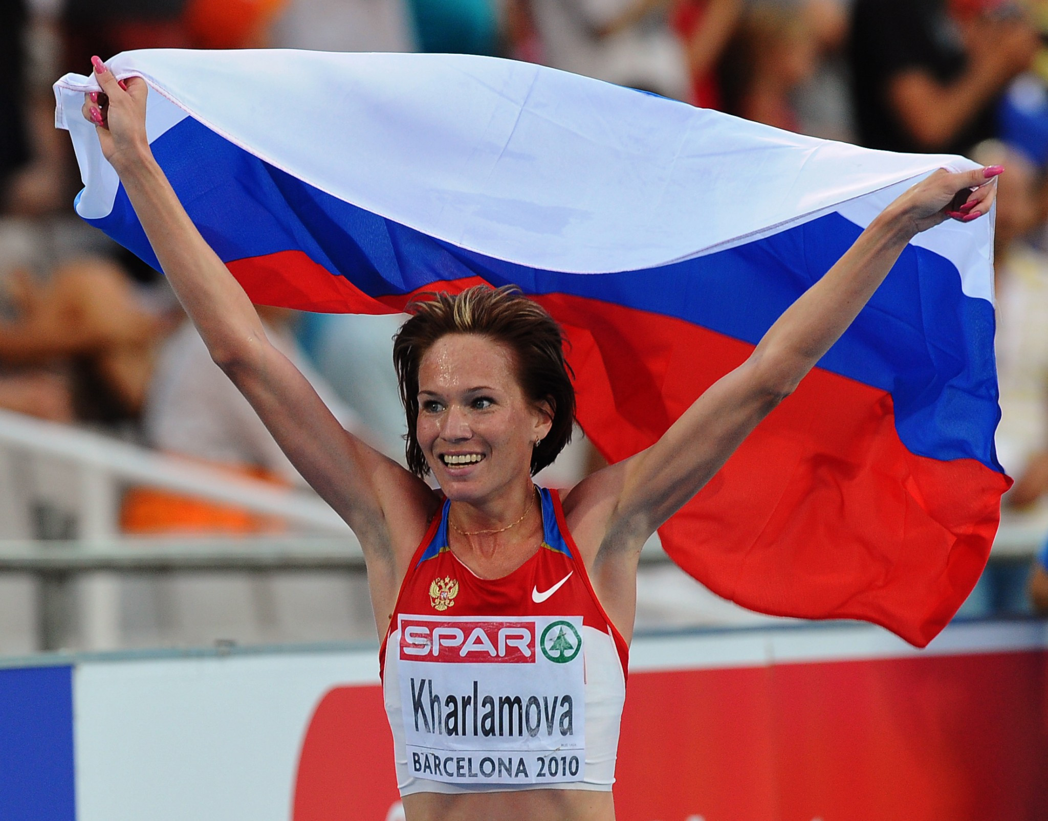Lyubov Kharlamova has been stripped of the silver medal she won at the 2010 European Championships in the 3,000 metres steeplechase ©Getty Images
