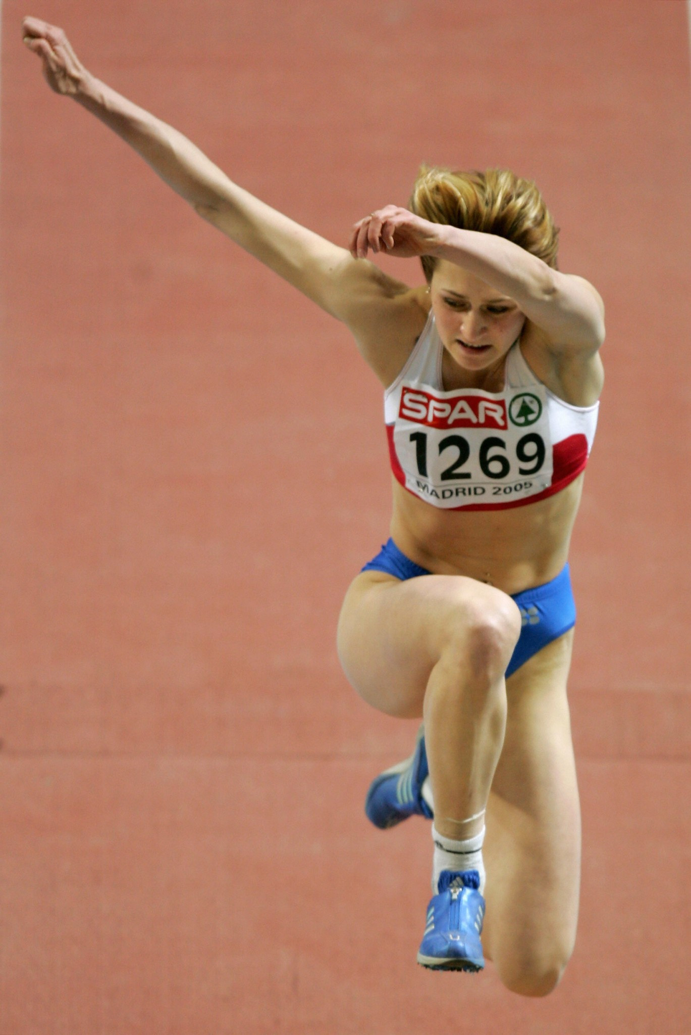 Viktoriya Gurova-Valyukevich's best performance was winning the triple jump at the 2005 European Indoor Championships in Madrid but she has now been banned for two years for a positive test for steroids ©Getty Images