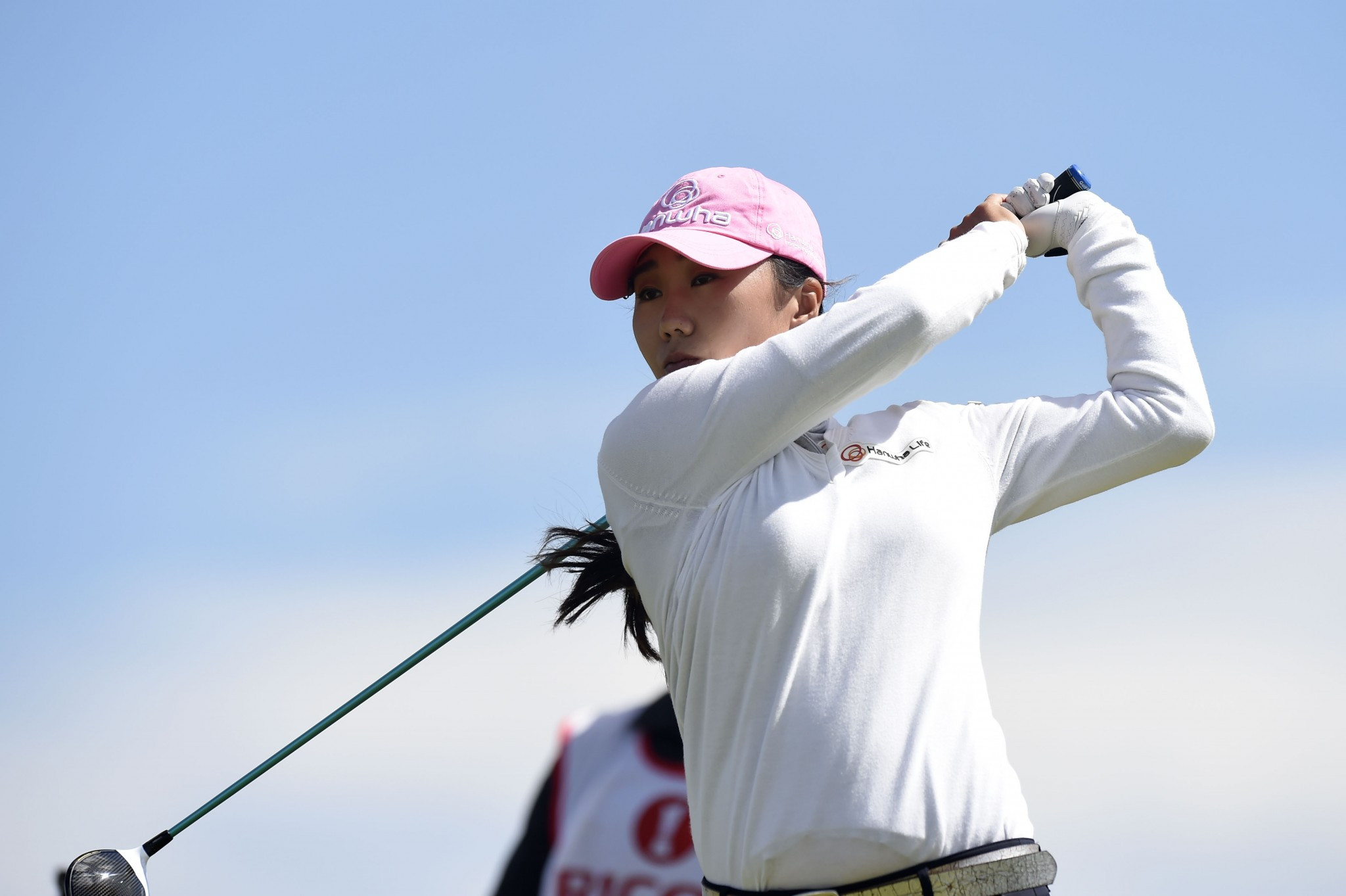 South Korea's Kim In-Yung is one shot adrift of leader Michelle Wie ©Getty Images