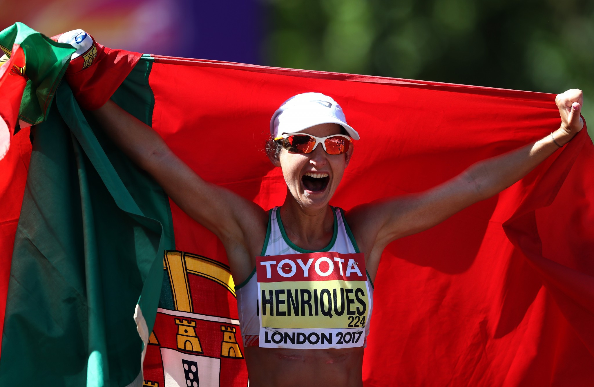 Ines Henriques' set a world record in the women's 50km during the event's World Championships debut ©Getty Images