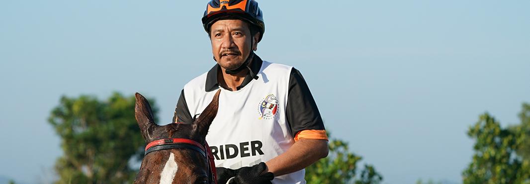 Sultan Mizan Zainal Abidin led Malaysia to success in the equestrian endurance event ©Kuala Lumpur 2017