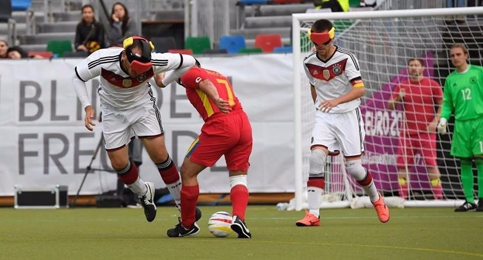 Hosts Germany beat Romania 4-1 today ©IBSA