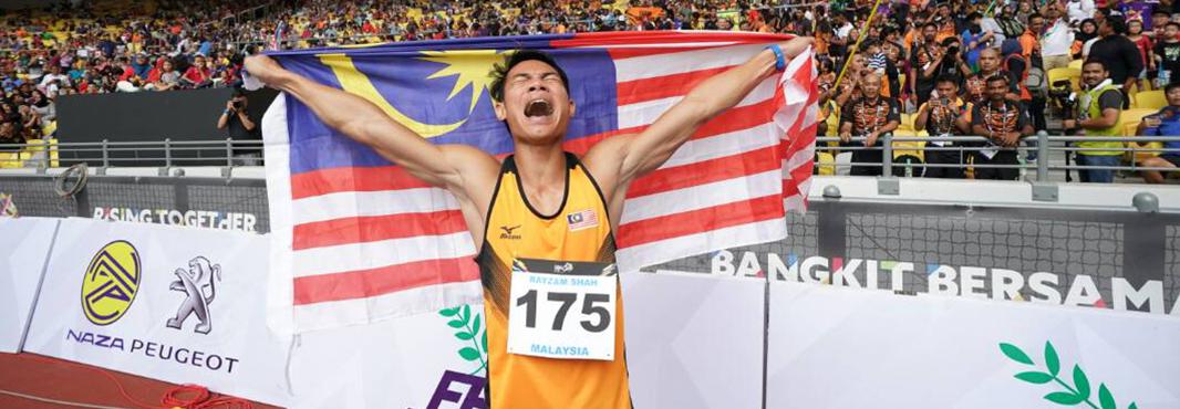 High hurdler Rayzam Shah Wan Sofian was another Malaysian winner today at the Southeast Asian Games ©Kuala Lumpur 2017