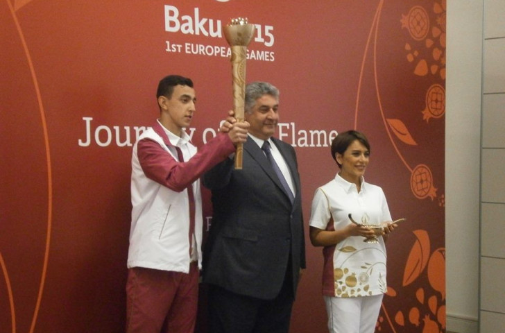 Azerbaijan's Minister for Youth and Sports and Baku 2015 chief executive Azad Rahimov centre believes the Torch Relay will be hugely exciting for his nation