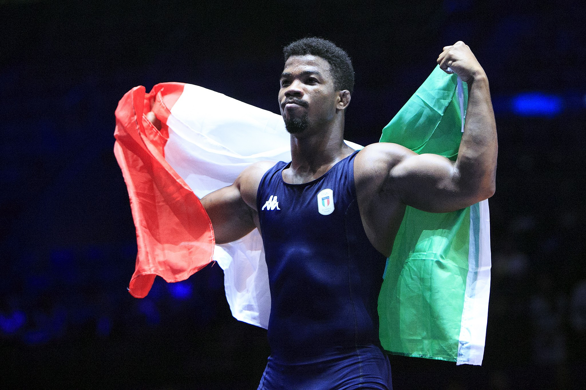 Frank Chamizo won the most eagerly anticipated bout of the day as he beat Magomedrasul Gazimagomedov to win the men's freestyle 74kg at the European Wrestling Championships ©Getty Images