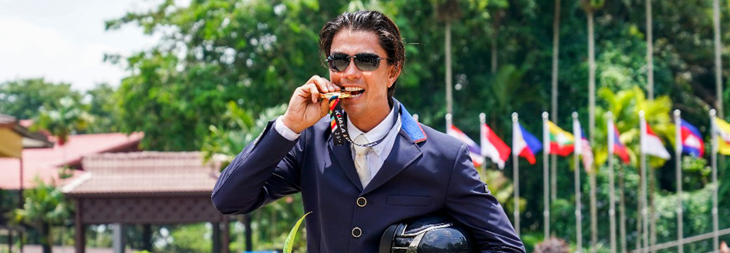 Collins breaks Malaysian domination in equestrian at Southeast Asian Games