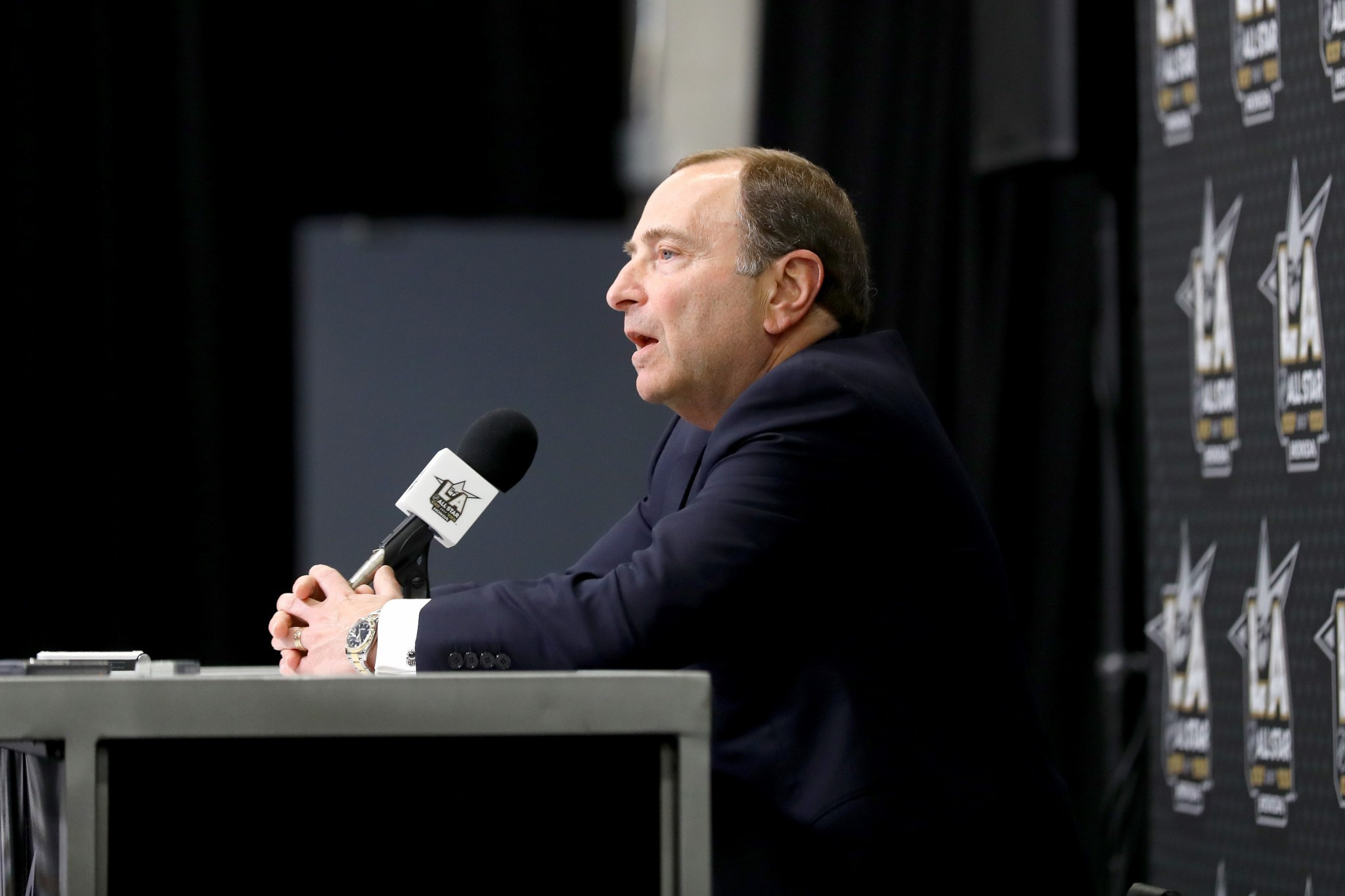 NHL Commissioner Gary Bettman has given no indication that they are prepared to change their mind and let the top players to travel to South Korea to compete at Pyeongchang 2018 ©Getty Images
