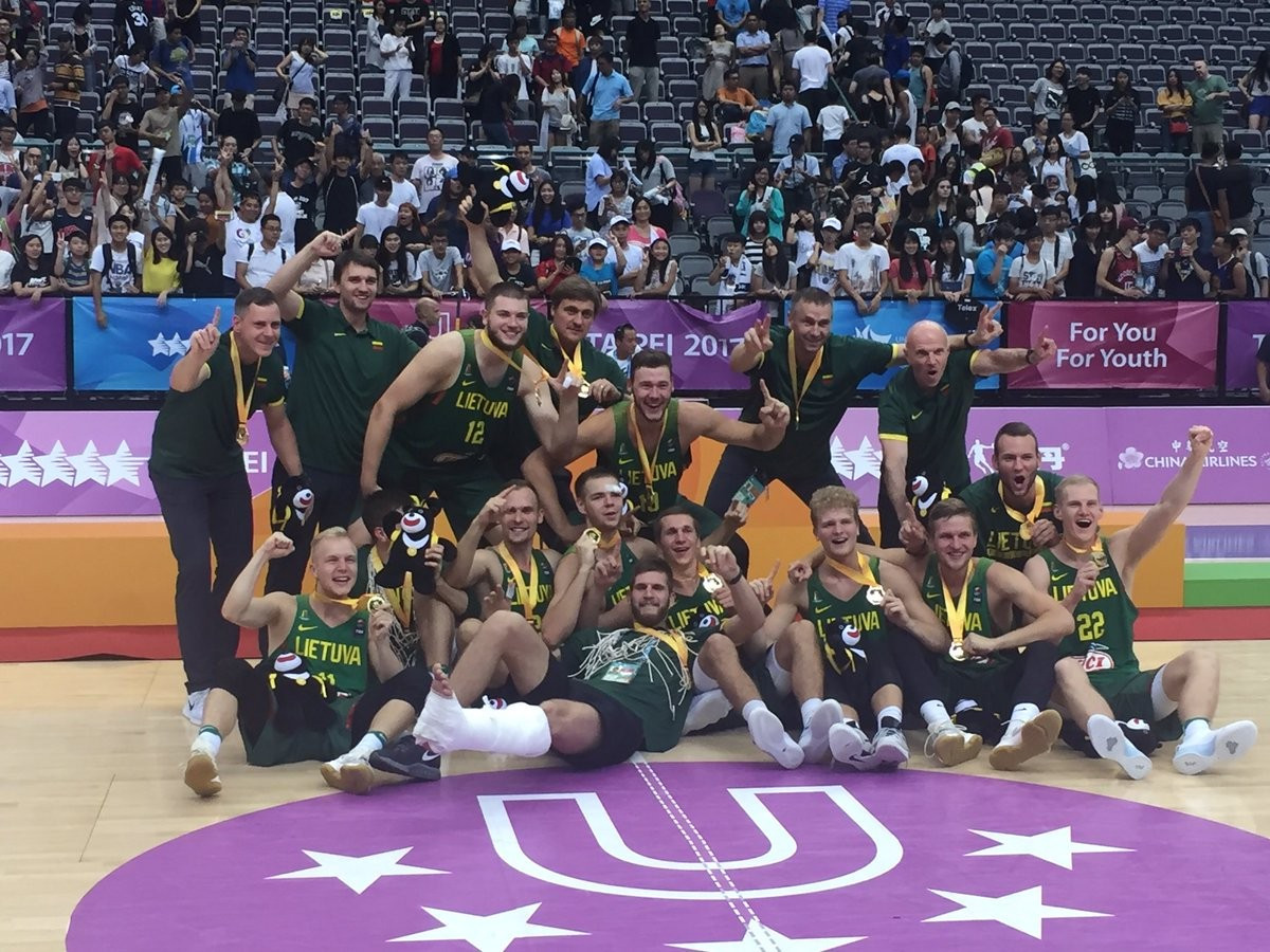 Lithuania won the men's basketball final against the United States ©FISU