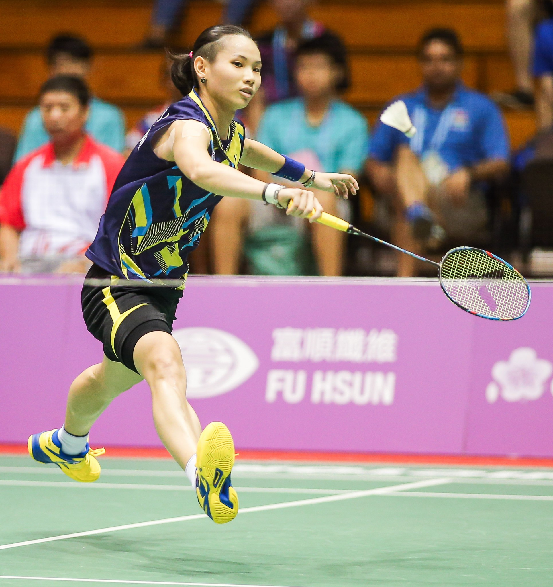 Tai Tzu-ying was one of four gold medallists for the hosts in badminton today ©Taipei 2017