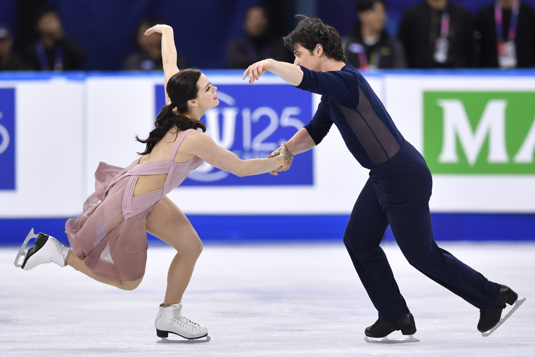 Canadian figure skaters Tessa Virtue and Scott Moir have selected music from the movie Moulin Rouge to compete to during the 2018 Olympic season ©Getty Images