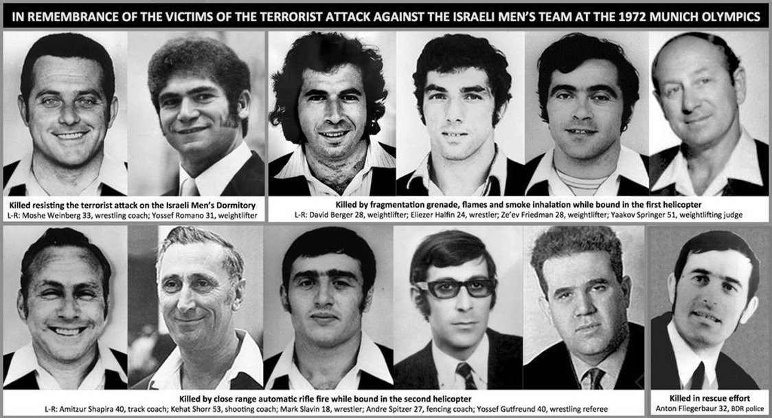 A total of 11 Israeli athletes and officials and a German policeman were killed by Palestinian terrorists in the attack during the 1972 Olympic Games in Munich ©Getty Images