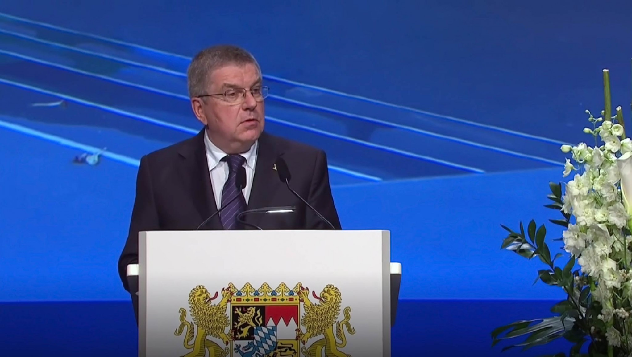 IOC President Thomas Bach attended the launch of a new memorial for victims of the Munich massacre ©IOC