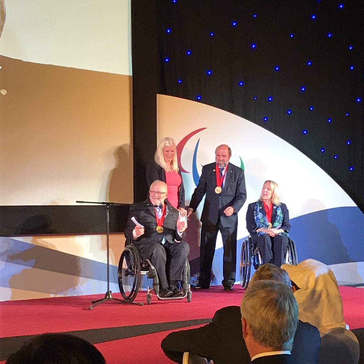 Outgoing IPC President Sir Philip awarded Paralympic Order