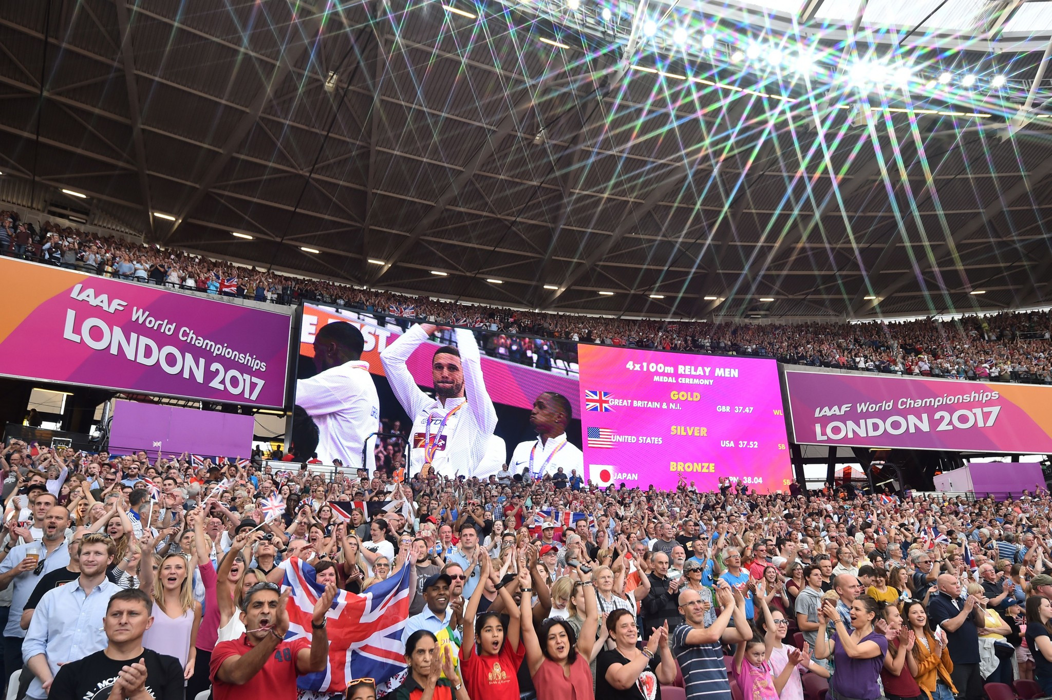 Record crowds attended this year's IAAF World Championships in London ©Getty Images