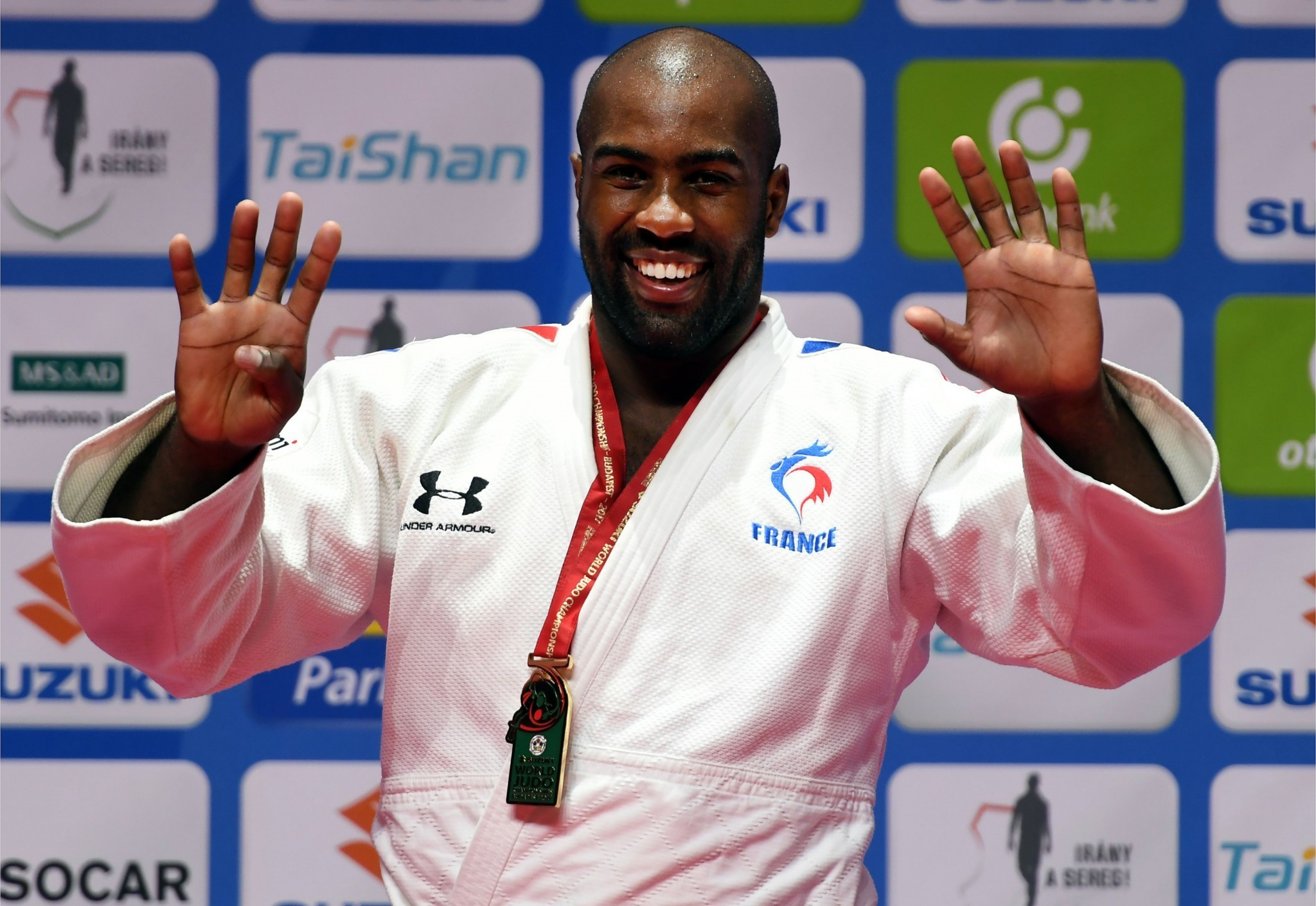 Teddy Riner will feature in today's episode as he secured his ninth World Championships gold medal ©Getty Images