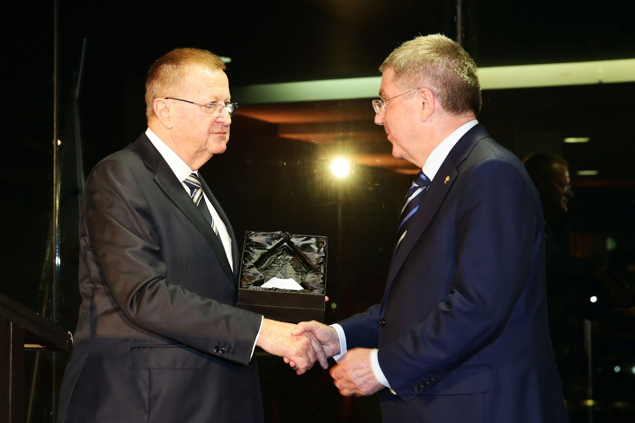 John Coates, left, is a close ally of IOC President Thomas Bach ©Getty Images