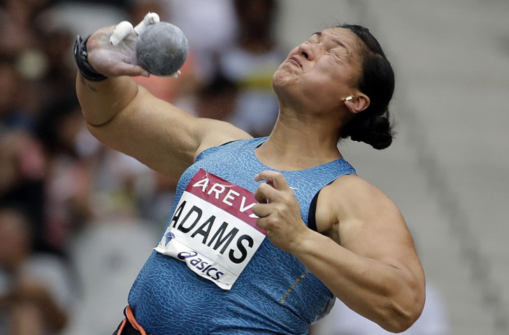 Double Olympic shot put champion Valerie Adams, who has struggled for fitness after surgery last year, pictured en route to losing her 56-event winning streak in Paris last month. She has now pulled out of defening her world title later this month ©Getty Images