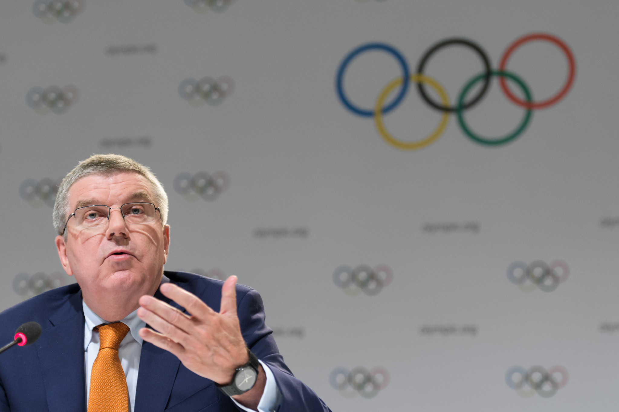 Thomas Bach insisted Pyeongchang 2018 will not be affected by the North Korea crisis ©Getty Images