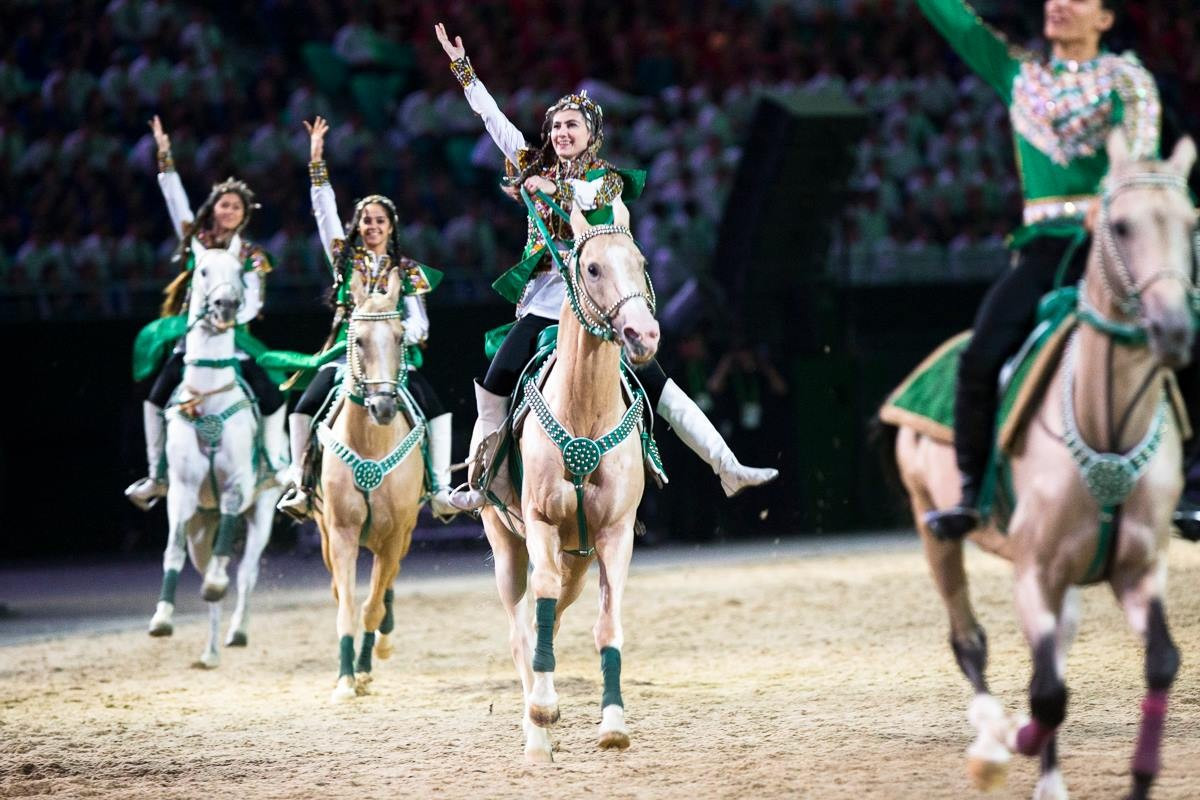 Horse acrobatics formed a part of the Opening Ceremony ©Ashgabat 2017