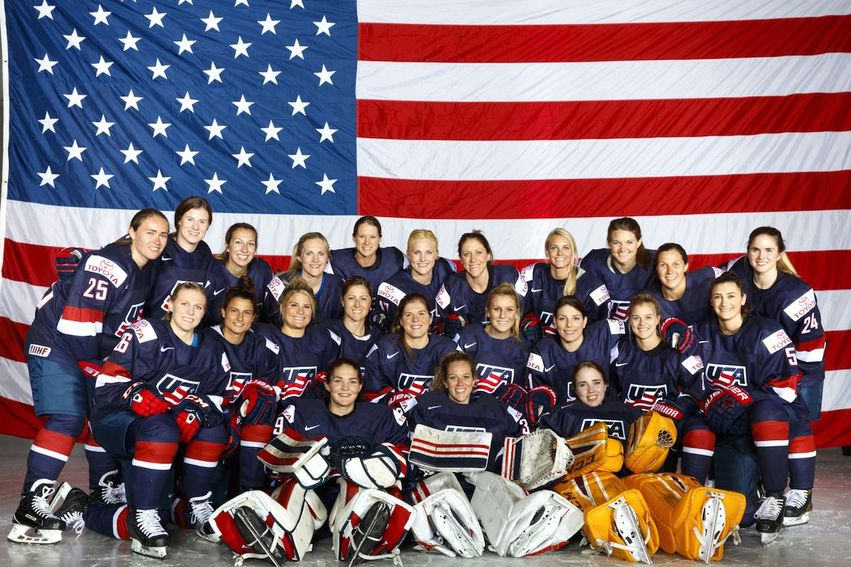The United States' women's ice hockey team have started their preparations for Pyeongchang 2018 ©USA Hockey