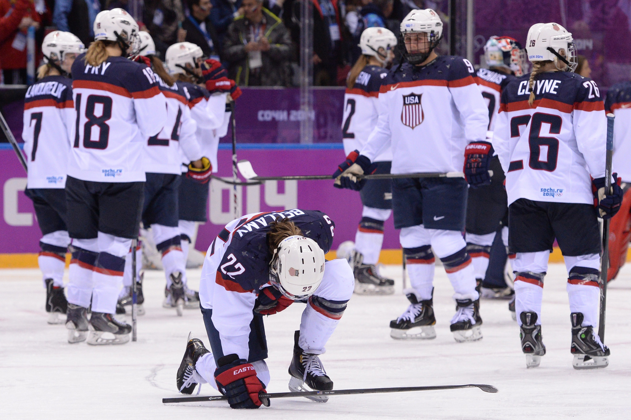 The US will be hoping to go one better than Sochi 2014 where they were beaten in the final ©Getty Images