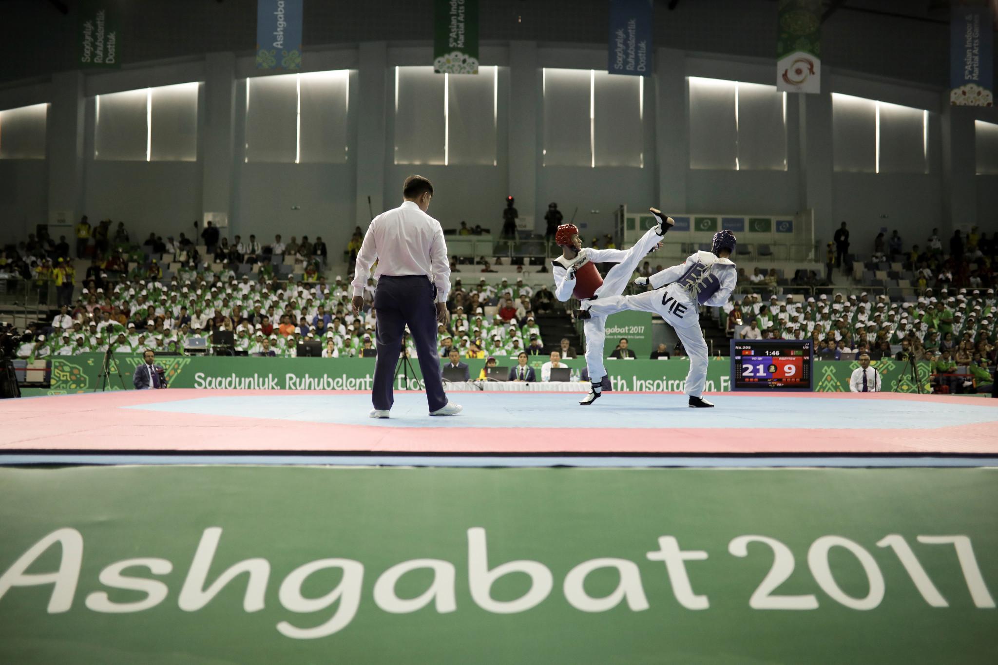 Taekwondo action concluded today at Ashgabat 2017 ©Ashgabat 2017/Alexandros Avramidis/Laurel Photo Services