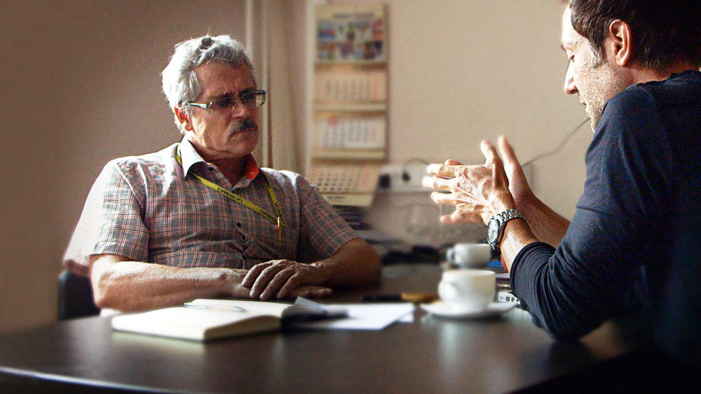 Grigory Rodchenkov, left, stuck to his guns in an op-ed piece in the New York Times ©Netflix