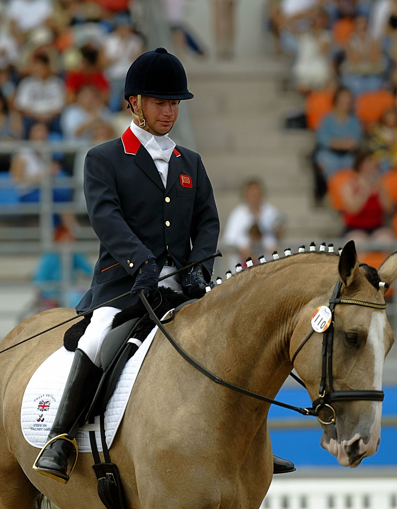 Lee Pearson and Blue Circle Boy won the team, individual and freestyle events at Athens 2004 ©Getty Images