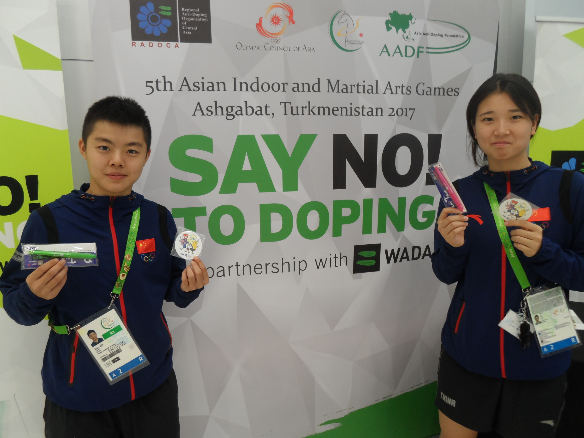 An educational kiosk has been set up at the 2017 Asian Indoor and Martial Arts Games' Athletes' Village here in an attempt to increase awareness of anti-doping ©OCA