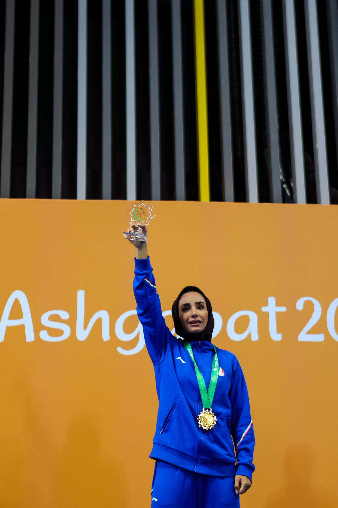 Iranian kickboxer Shahnaz Mirheidari won the women's point fighting under 55kg title ©Ashgabat 2017/Nikos Karanikolas/Laurel Photo Services