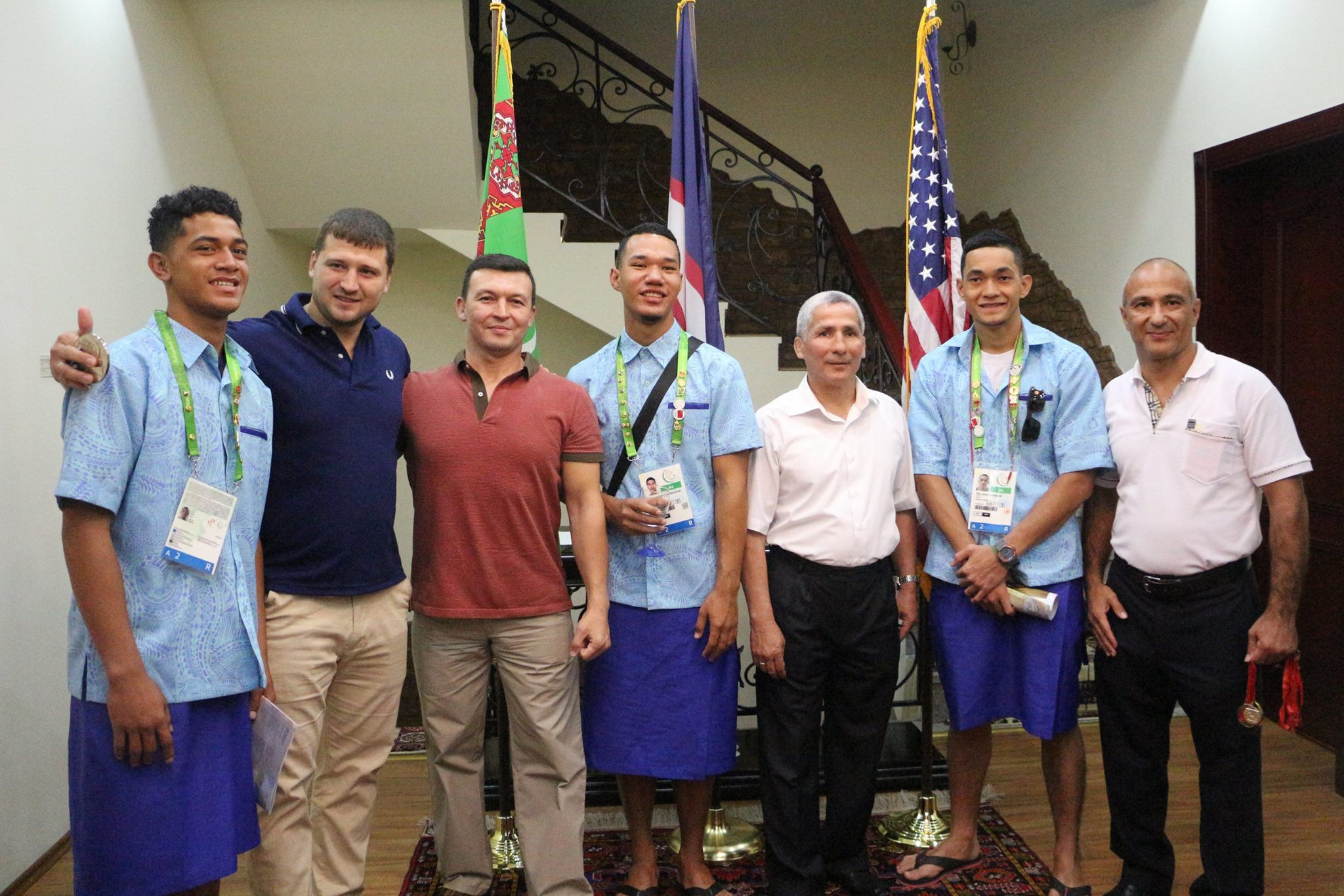 American Samoa athletes got a rare opportunity to talk with former medallists ©American Samoa National Olympic Committee/Facebook