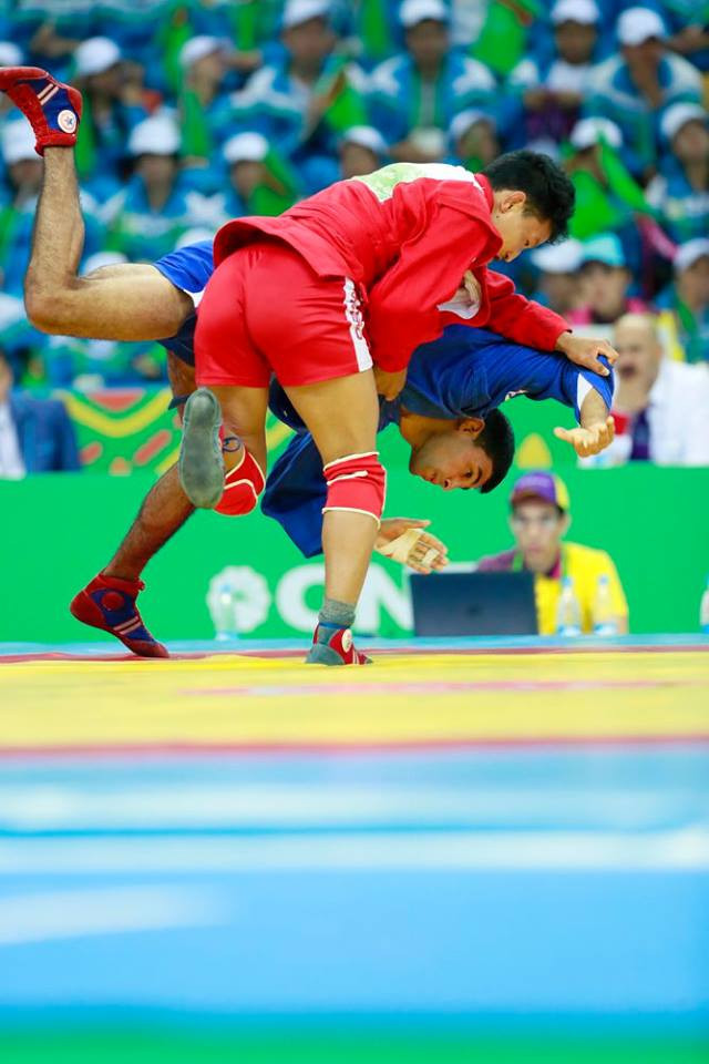 The seven sambo gold medals awarded on the final day of competition were split between four countries ©Ashgabat 2017/Facebook