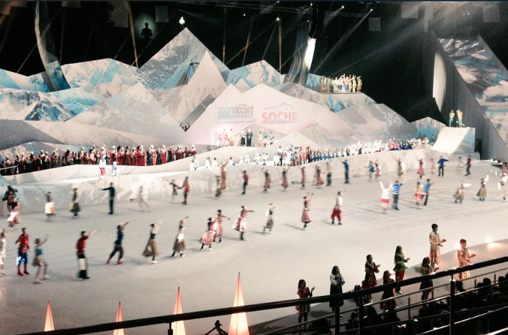 Skaters and dancers filled the ice as the SportAccord Convention World Sport & Business Summit was officially opened