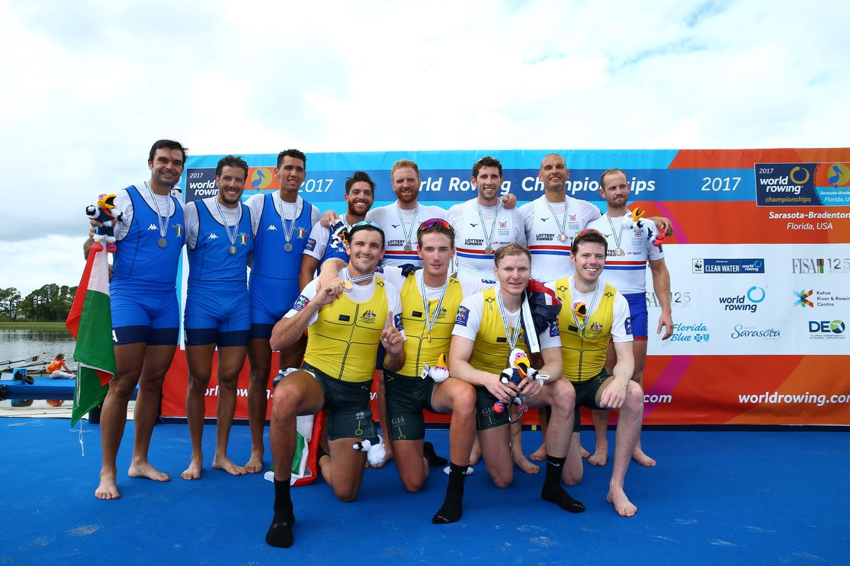 Satch returns for Britain, but Australia win first men's four gold in 26 years at World Rowing Championships