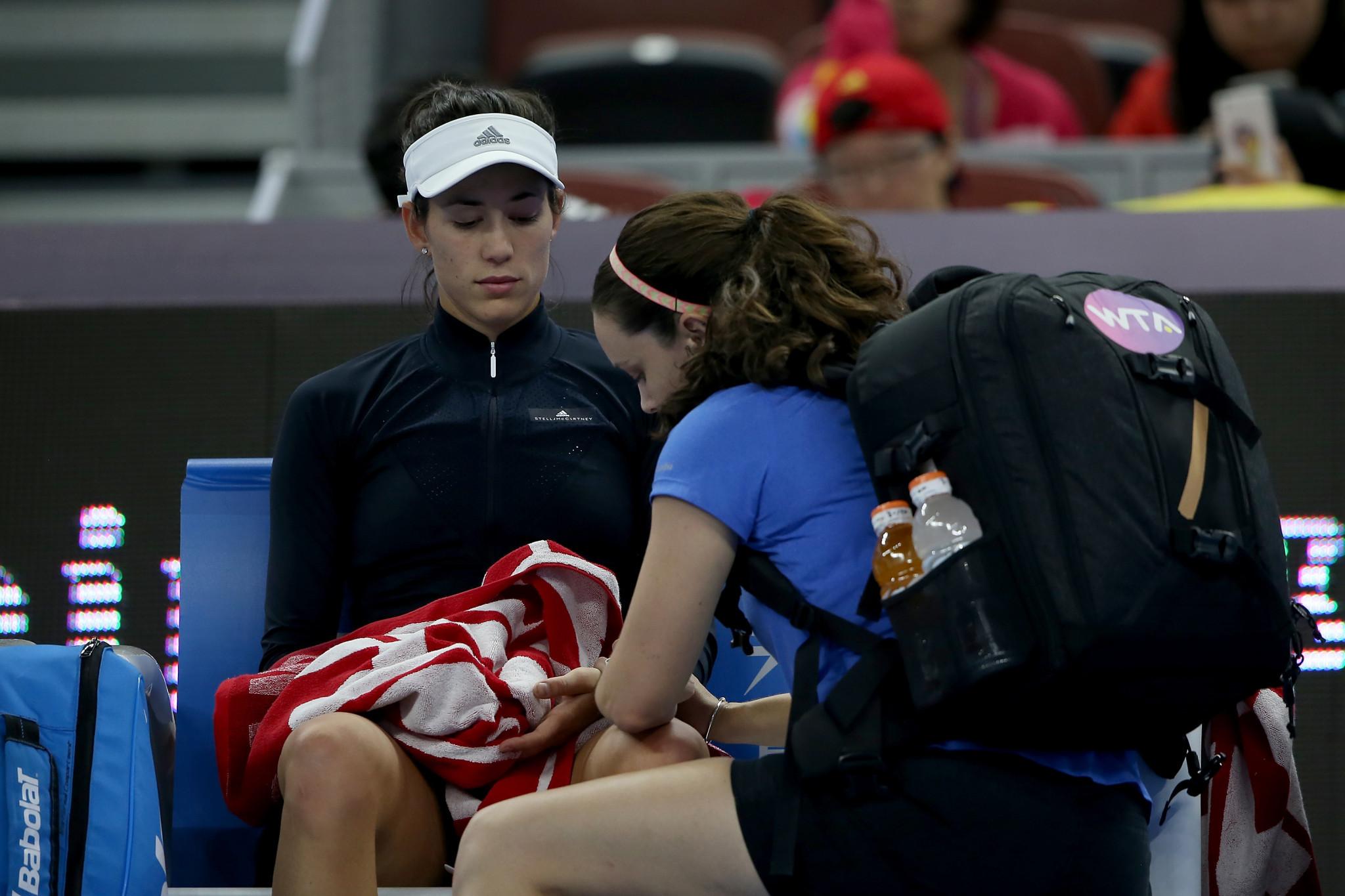 Muguruza retires ill as US Open winner Stephens beaten at China Open
