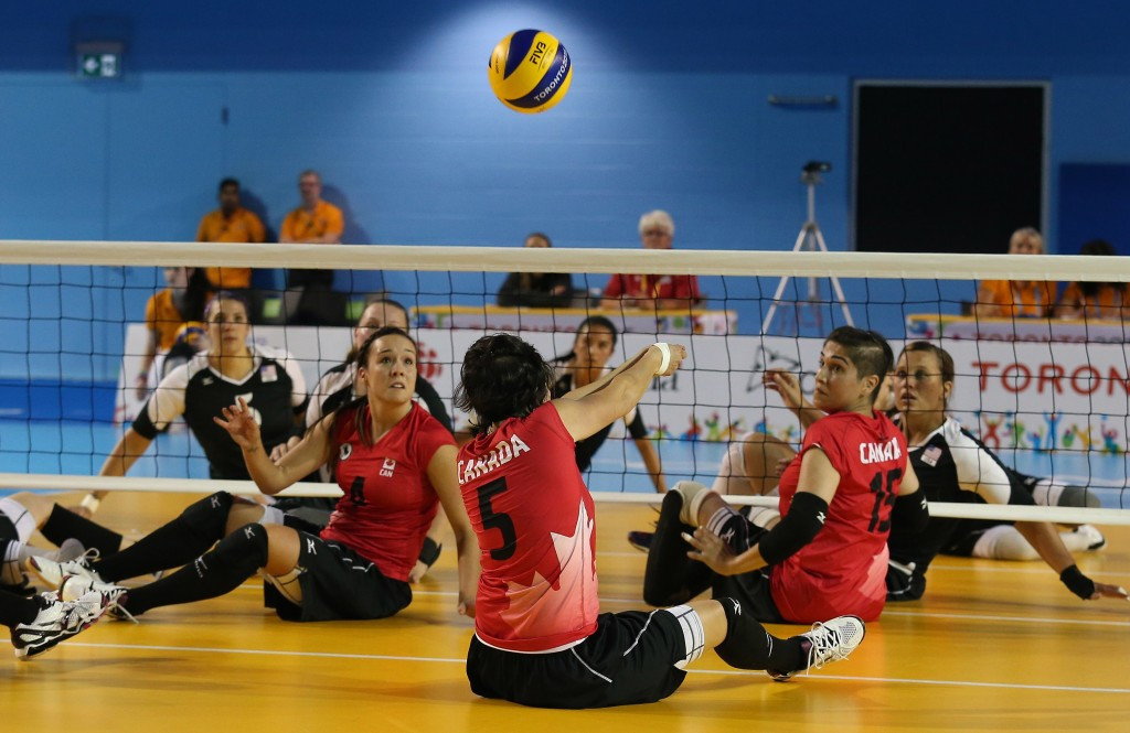 The United States earned a straight sets win over Canada in the women's sitting volleyball