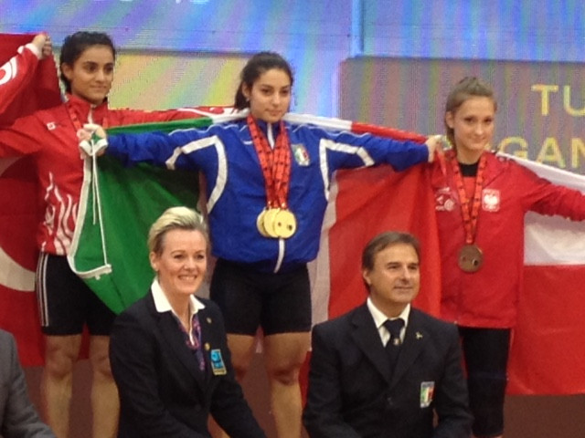 Alessandra Pagliaro was among the winners on day one in Durres ©ITG