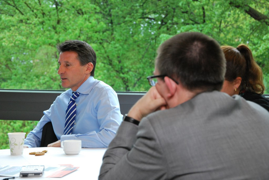 """Sebastian Coe claims he is """"angered by the potrayal of my sport"""" ©ITG"""