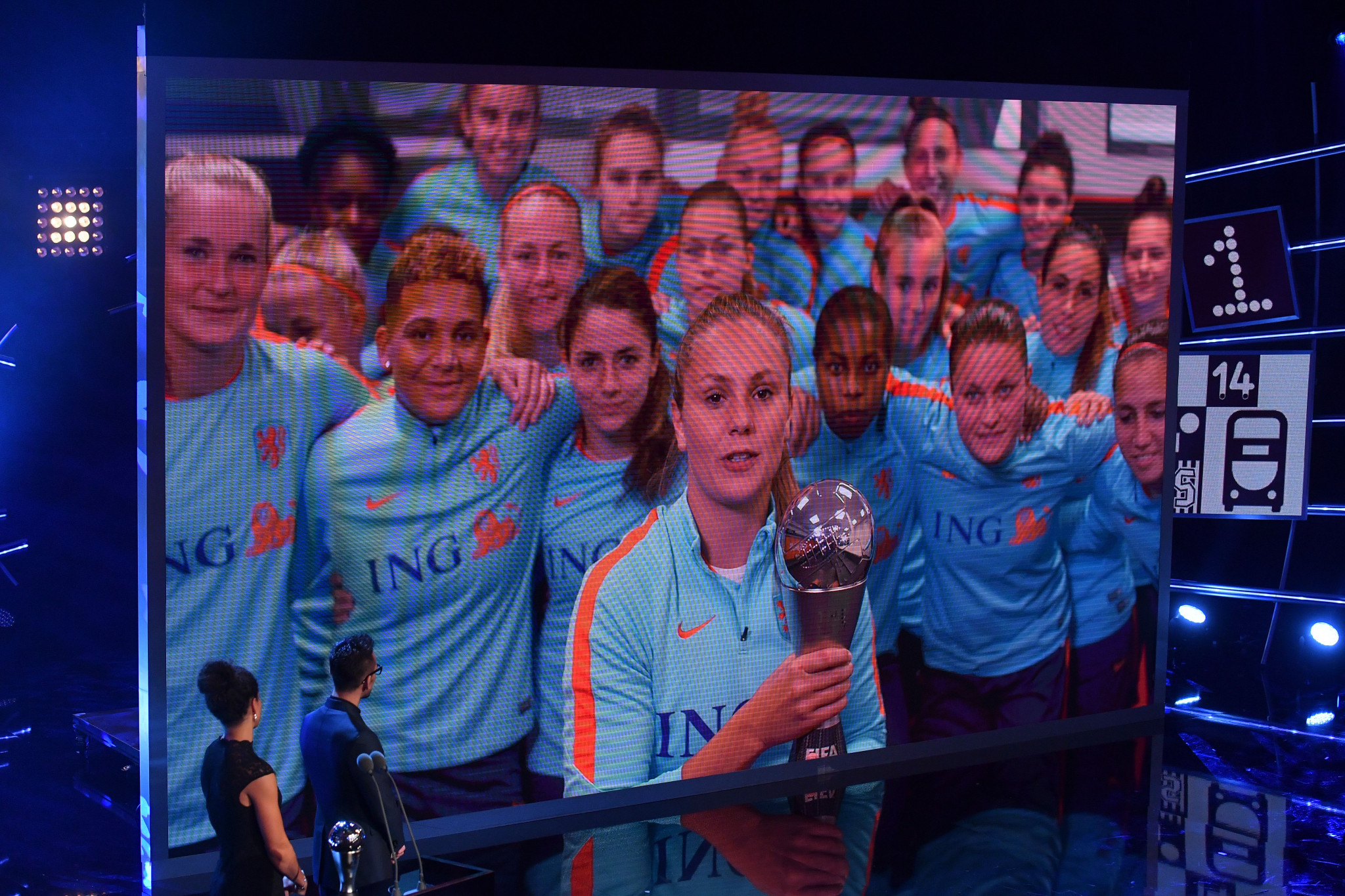 Lieke Martens won the women's prize but was not in attendance to collect her trophy ©Getty Images