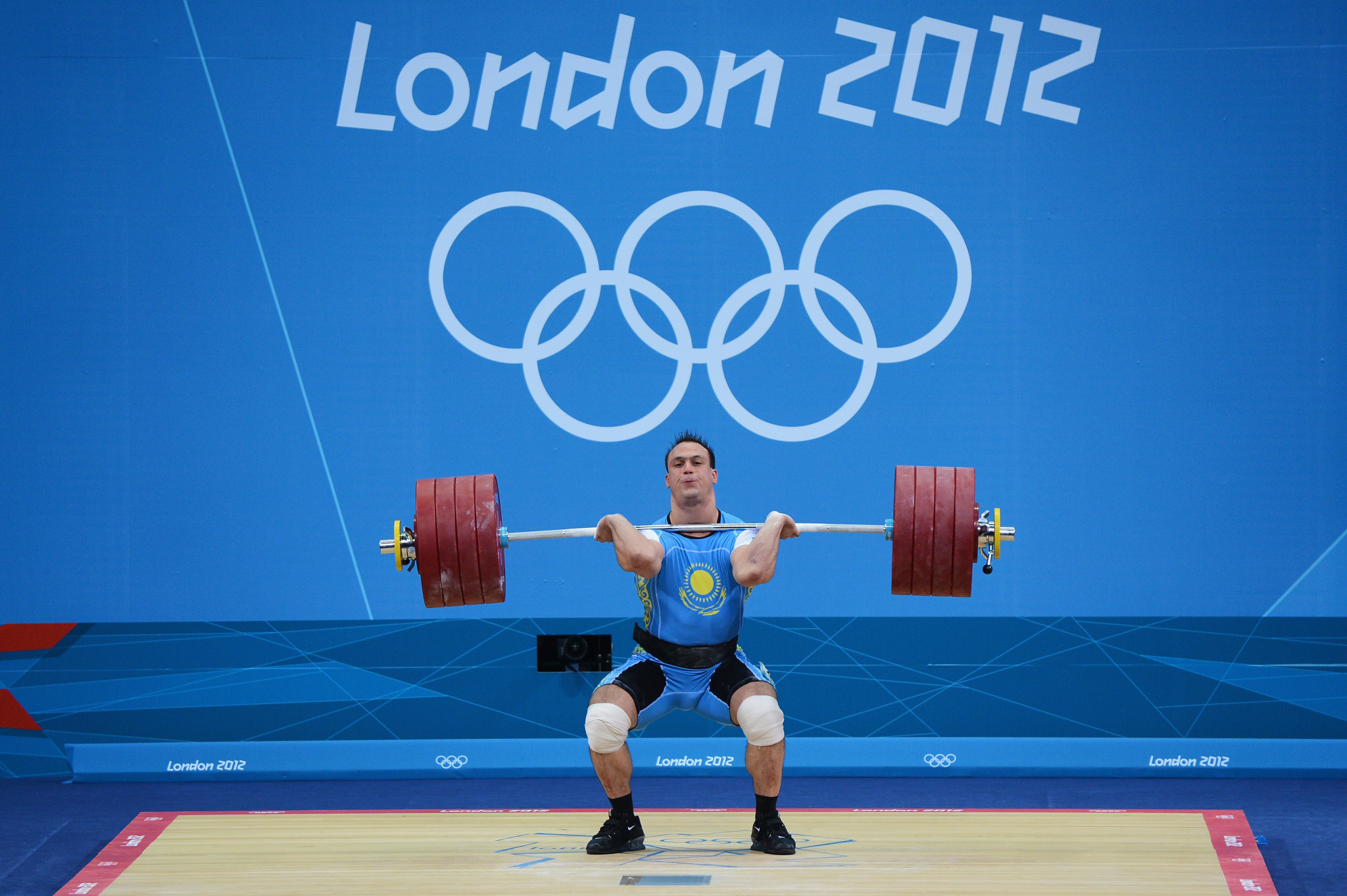Ilya Ilyin of Kazakhstan has been stripped of two Olympic gold medals  ©Getty Images