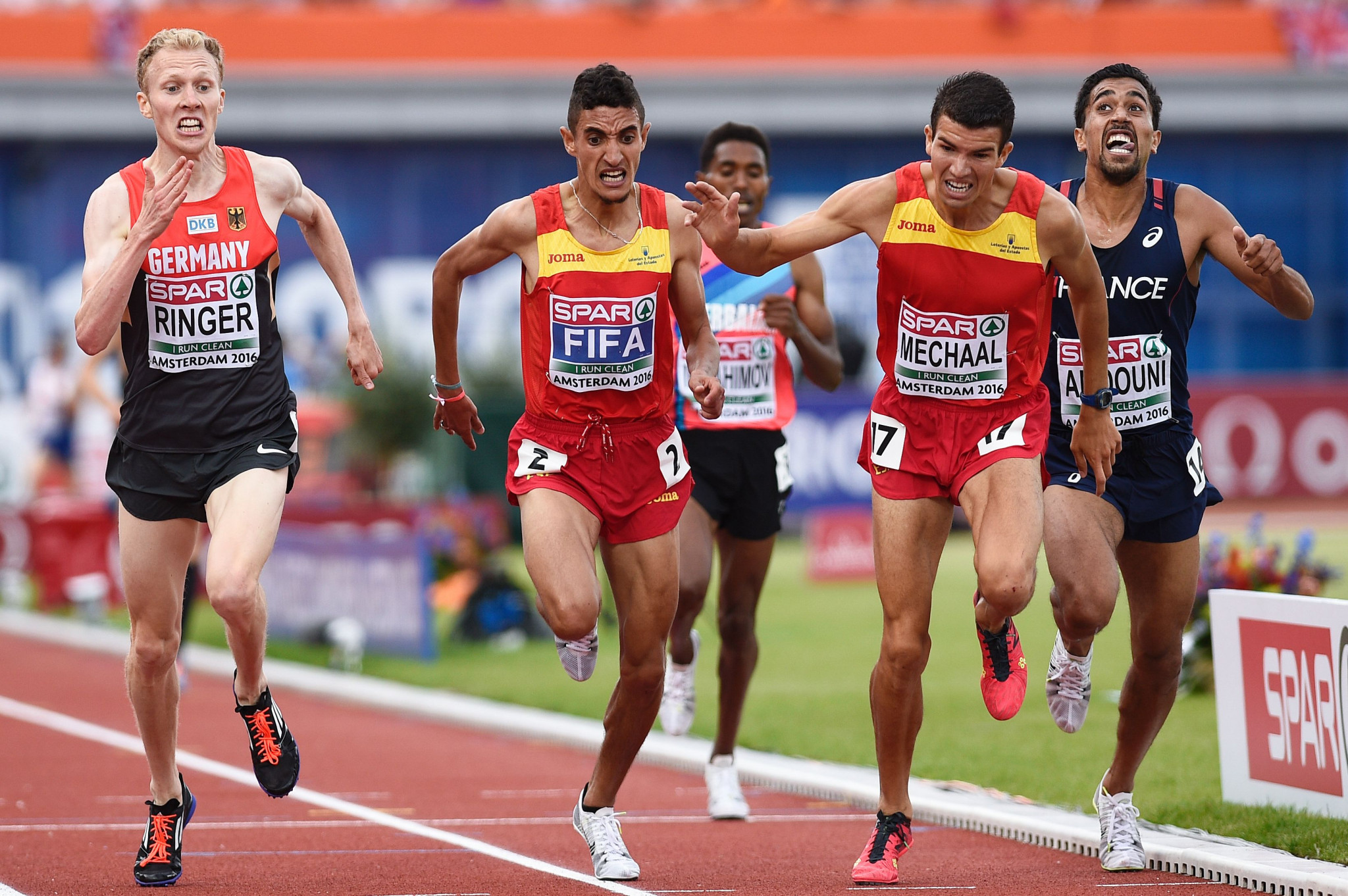 Ilias Fifa won the men's 5,000 metres gold medal at the 2016 European Athletics Championships in Dutch capital Amsterdam ©Getty Images
